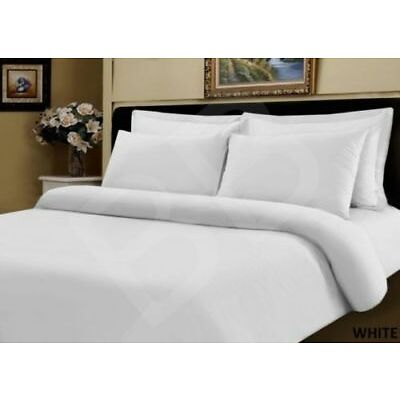 EGYPTIAN COTTON 500 THREAD COUNT DUVET COVER SET / FITTED SHEET BEDDING