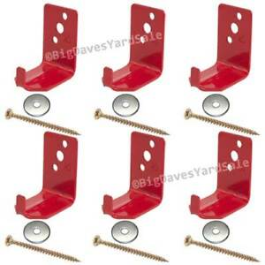 (6 Wall Hooks) Universal Bracket or Hanger for 10,15 or 20 lb Fire Extinguishers