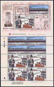 Korea-Sued-1999-UNESCO-Schrein-Chongmyo-Zeremonie-2059-2060-Kleinbogen-MNH