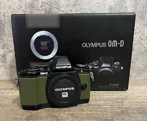 Boxed-Ltd-Edition-Green-Olympus-OM-D-E-M10-Mirrorless-Digital-Camera-Body-4k