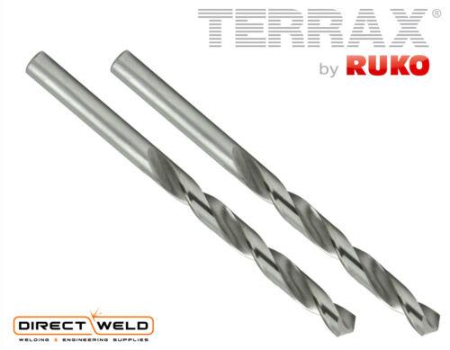 Terrax by RUKO 2pcs x HSS-G Twist Drill Bits Ground All Sizes 1.0-13.0mm