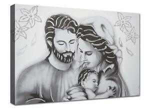 Quadro Moderno Cm 100x70 Stampa su tela Quadri Moderni Capezzale Sacra Famiglia