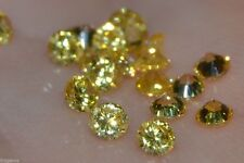 ***Flawless***3mm IF Brilliant Cut Russian Simulated Yellow Diamonds