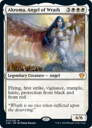 x4 Akroma English Angel of Wrath MTG Commander 2020 M M//NM