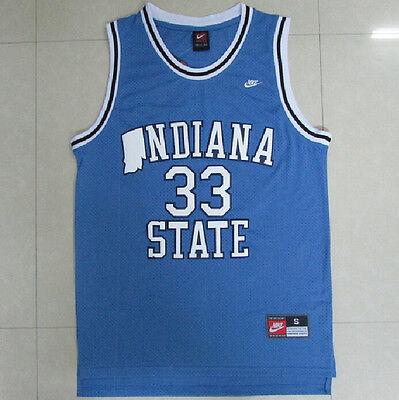 size 40 1e42a 5adb5 Vintage Larry Bird Indiana State #33 blue jersey all size | eBay