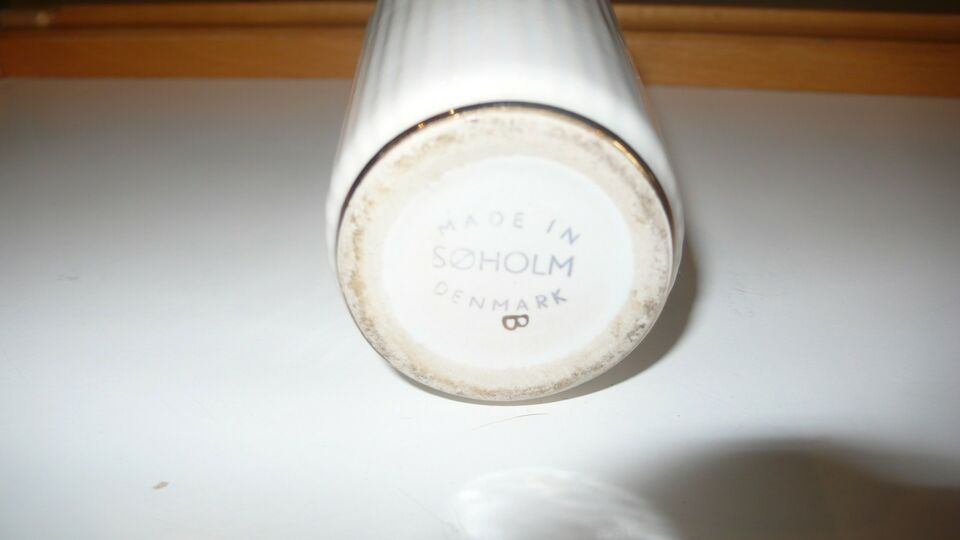 Vase, Lyngby Vase lille m guldkant , Søholm