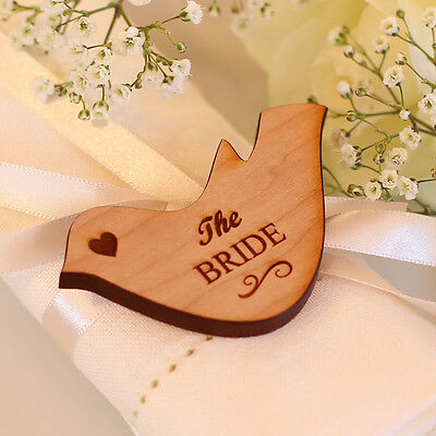 67Wedding Table Decorations Personalised Name Place Setting Wooden Love Doves