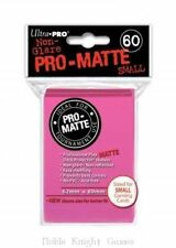 (600x) Ultra Pro HOT PINK Pro-Matte SMALL YUGI Deck Protector Sleeves