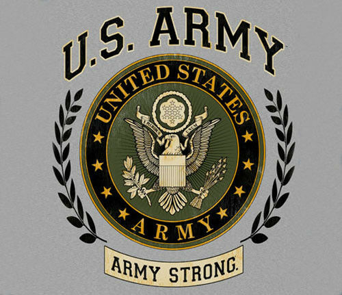 Army Strong Laurel Leaf Circle Adult SWEAT SHIRT U.S