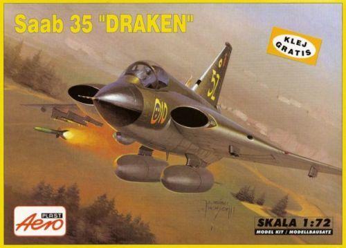 SAAB JARNO 35 DRAKEN FLYGVAPNET//SUECA AF SEÑALES 1//72 AEROPLAST