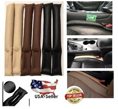 2x PU Leather Auto Truck Car Seat Gap Filler Stop Pad Holster Space Blocker