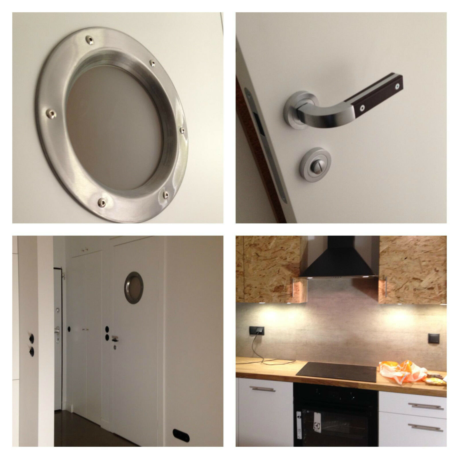 STAINLESS STEEL PORTHOLE VISION PANELS FOR DOORS phi 350 mm.Wonderful.