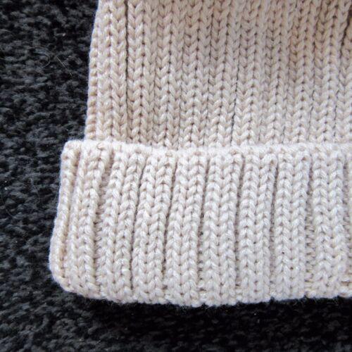 Nuevo Kinder Boutique de punto acanalado grande Tire de sombrero de piel sintética pom pom 0-8 años
