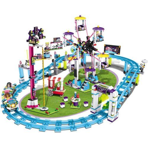 Building Blocks Bricks Friends Amusement Park Blocks Roller Coaster Figure Model
