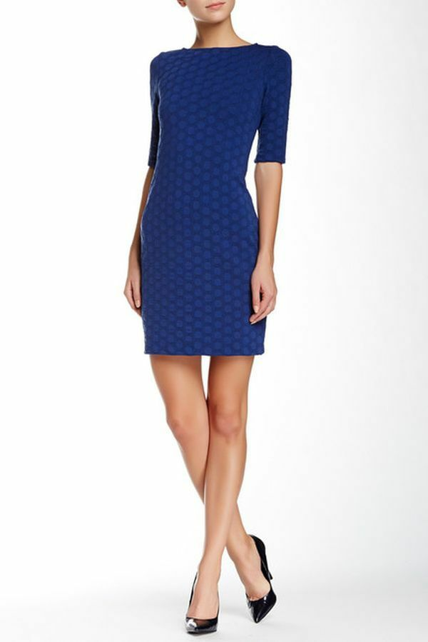 NWT Sleek Julia Jordan Cobalt Blau Jacquard Dress 6