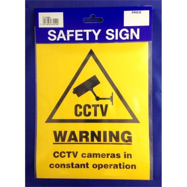 Large Cctv Warning Safety Sign - Sticker Vinyl Castle Promotions Outdoor Grade