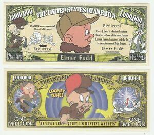Usa États-unis 1 Millions De Dollars 2015 Unc Banknote-elmer Fudd Bugs Bunny-afficher Le Titre D'origine Anjq3k3h-07221351-474752186