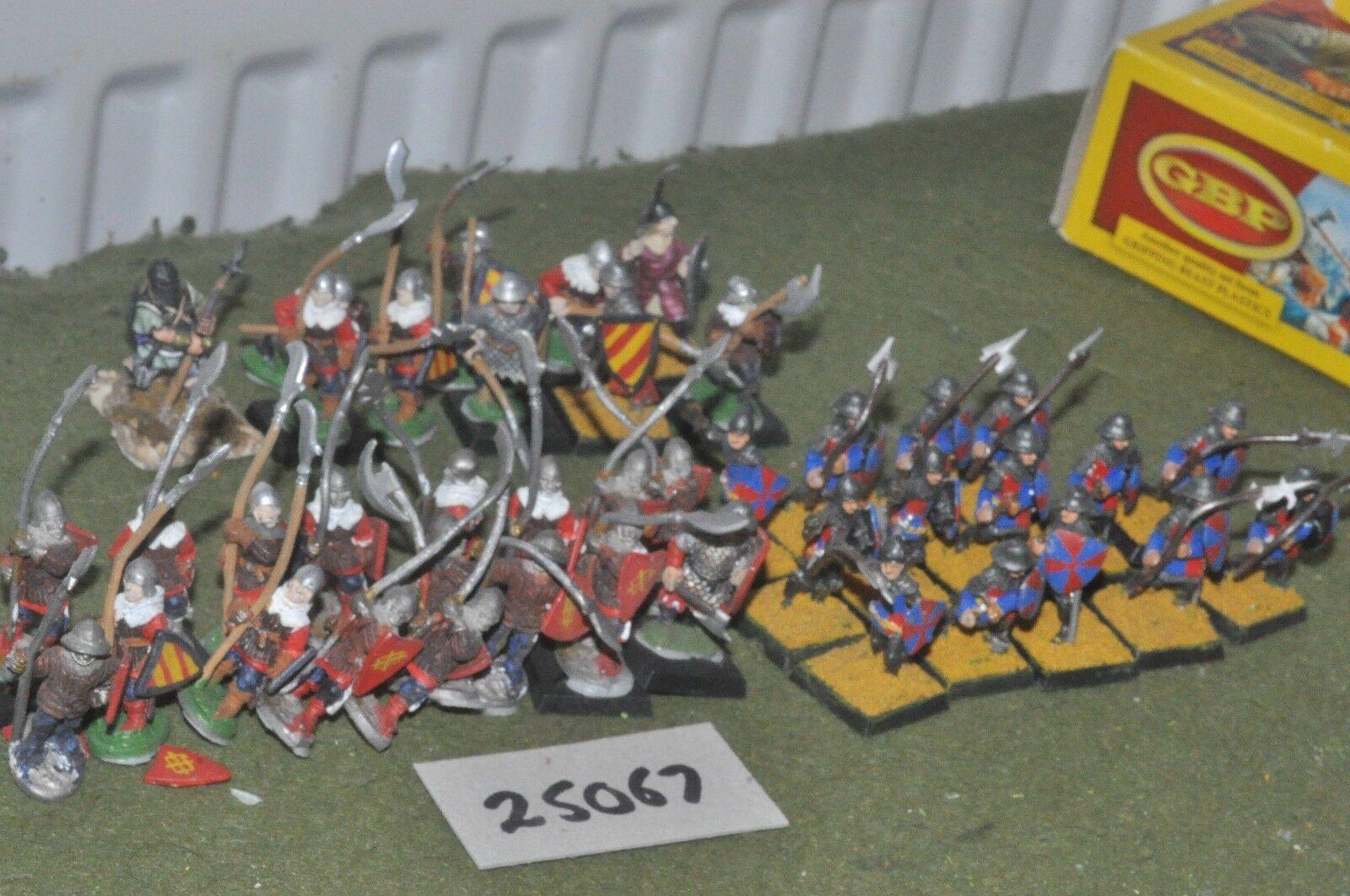25mm medieval   english - billmen 40 figures - inf (25067)