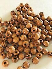 1000 Olive Wood 7mm Round Beads Rosary Wooden Jewelry Bethlehem Jerusalem