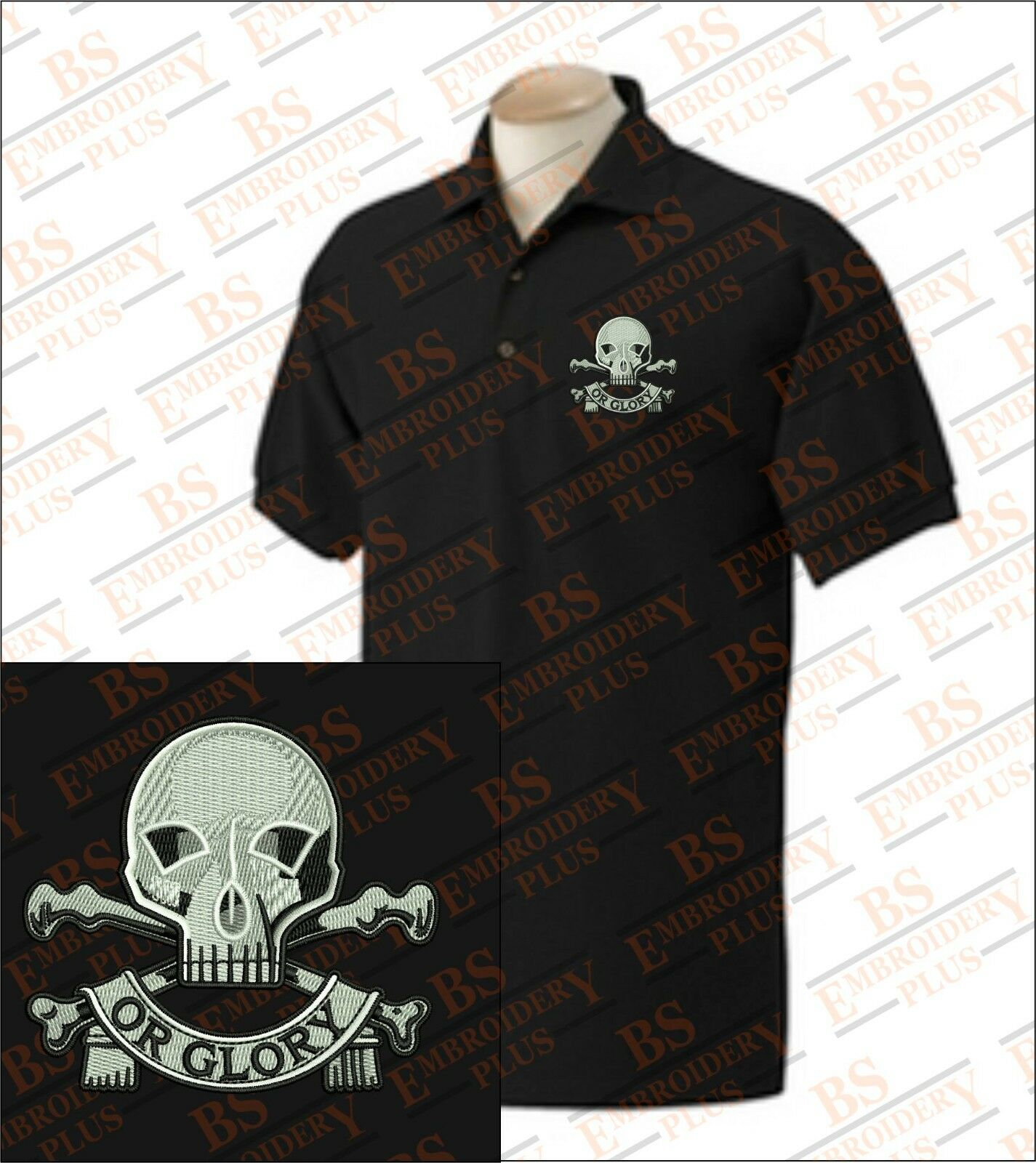 17th 21st Lancers Embroidered Polo Shirts