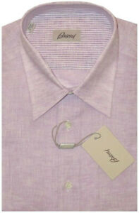 575-NWT-BRIONI-LAVENDER-SHORT-SLEEVE-SUMMER-LINEN-DRESS-CAMP-SHIRT-III-M-16