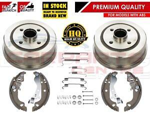 Pour-vauxhall-corsa-c-MK2-2000-arriere-tambour-de-frein-chaussures-kit-de-montage-avec-abs