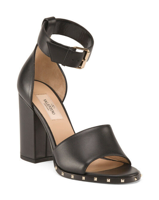 NWT VALENTINO NWT Block Heel Leather Sandals Size 36