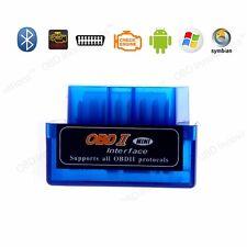 Super Mini ELM327 Bluetooth OBD2 Car Diagnostic Scanner for Android PC V2.1 Blue