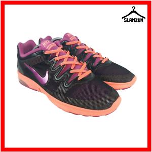 Nike-Air-Max-Fusion-Damen-Strasse-Laufschuhe-Turnschuhe-UK-7-41-schwarz-pink-Fitness-Laufen