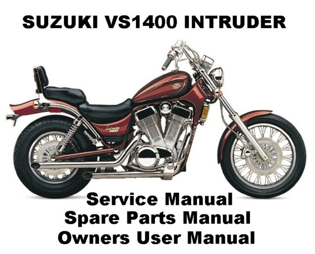 suzuki intruder vs 1400 owner service workshop repair parts manual rh ebay com Suzuki Motorcycle Parts Diagrams Suzuki Motorcycles Parts Batteries