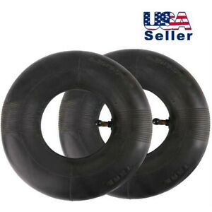 TWO-4-10-3-50-4-Inner-Tube-4-10-4-3-50-4-11x4-0-4-TR87-for-10-034-Tires-Lawn-Mowers