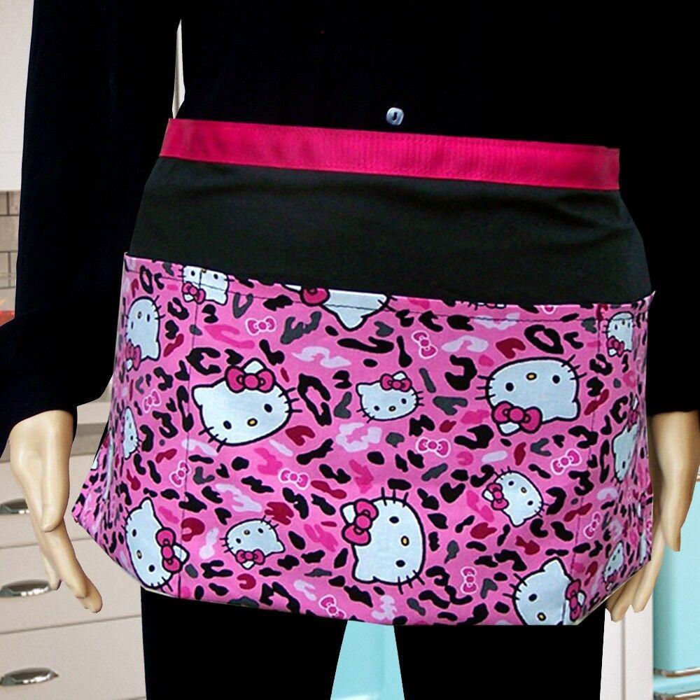 Lot de 4 Hello Kitty tablier rose guépard utilitaire poche Tablier
