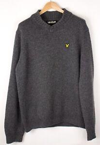 Lyle & Scott Herren Freizeit Wolle Nylon Pullover Sweatshirt Größe L ASZ716