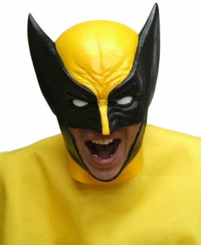 Wolverine Rubber Mask Cosplay Costume  Limited Rare w//Tracking# form JAPAN F//S