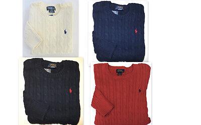 POLO RALPH LAUREN Boys Sz 14-16 Sweater Kids Large Pullover Crew NEW