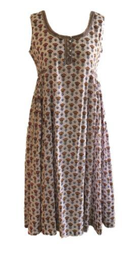 100/% Cotton Lined Anokhi Sleeveless Sufi Dress