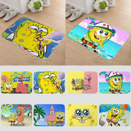 SpongeBob Cartoon Anti-skid Indoor Doormat Rug Bedroom Bathroom Floor Mat Carpet