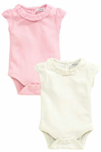 Baby & Toddler Clothing Girls' Clothing (newborn-5t) Вnwt Next Baby Babygrows Outfit • Pink/cream Bodysuits 2pk • 100% Cotton • 1 Mon Clear-Cut Texture