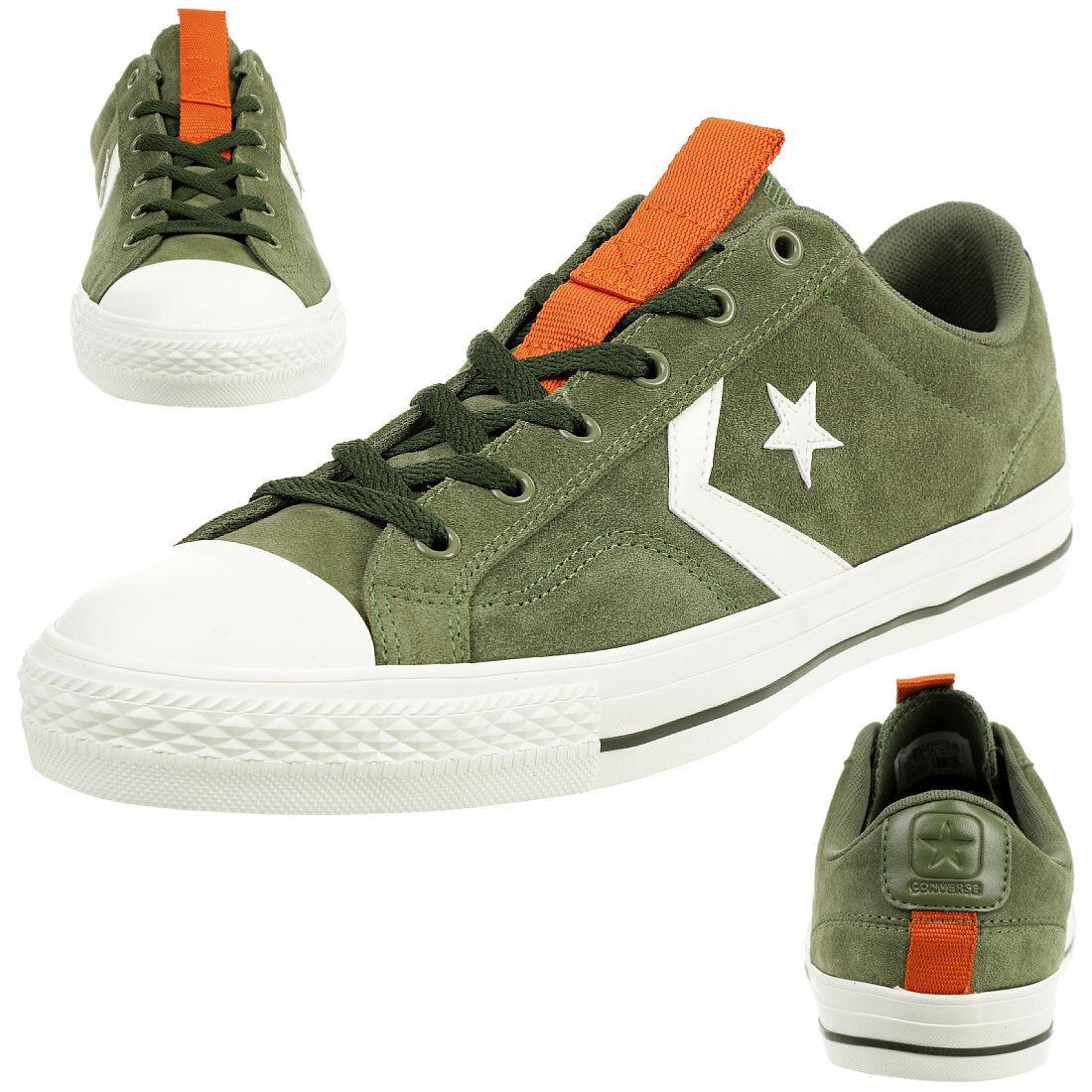Converse Star Player Ox zapatos zapatillas de gamuza verde 162568c