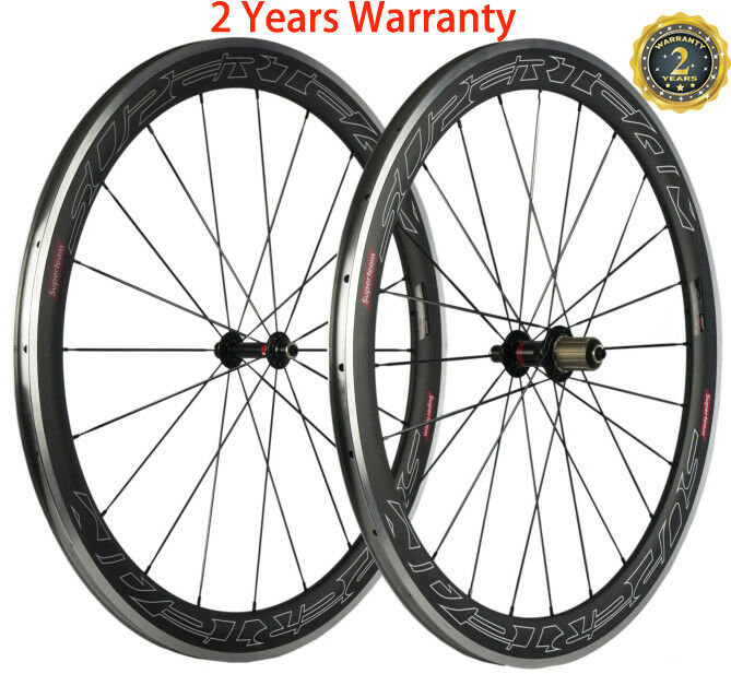 Carbon Wheels Road Bike 50mm Aluminum Brake Surface Novatec  291 Hub Wheelset  fast delivery