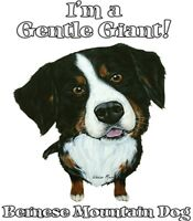 Bernese Mountain Dog Shirt - Gentle Giant - Berner Sennenhund - Small - 5x