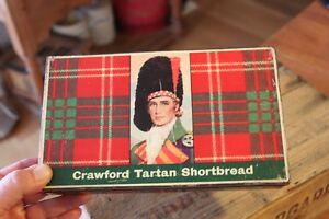 Vintage Crawford Tartan Shortbread Rectangular Biscuit Tin – Great! –