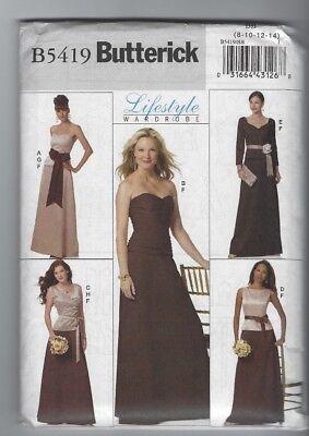 Butterick Lifestyle Wardrobe Misses Top Skirt Sash Sewing Pattern B5419 Uncut FF