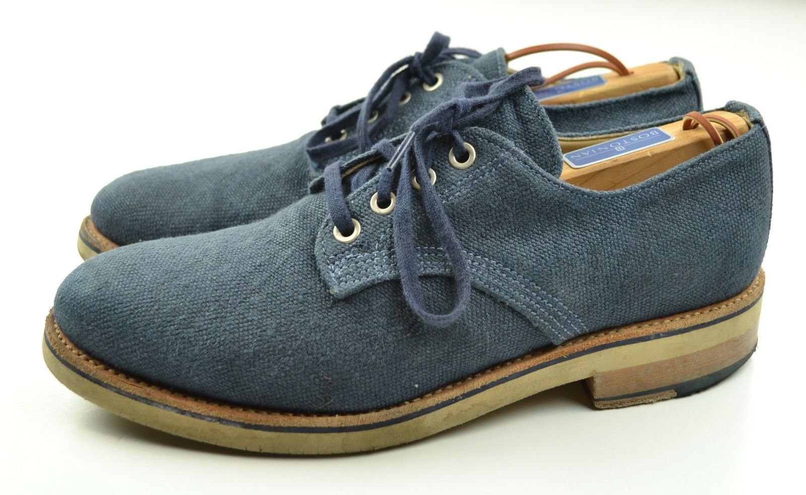 Walk-Over 'Paul' Blue Linen Bucks Summer Shoes Made in USA Very GOod 8 M 8M