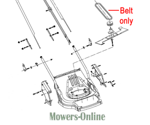 Lawn Mower Parts & Accessories Genuine Webb RR17SP Lawnmower Drive ...