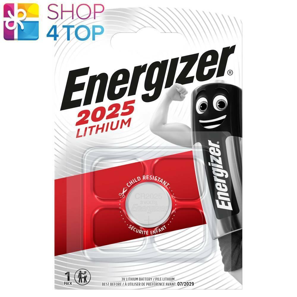 Energizer cr2025 Lithium Battery Blister 3v Coin Cell dl2025 Exp 2029 NEW