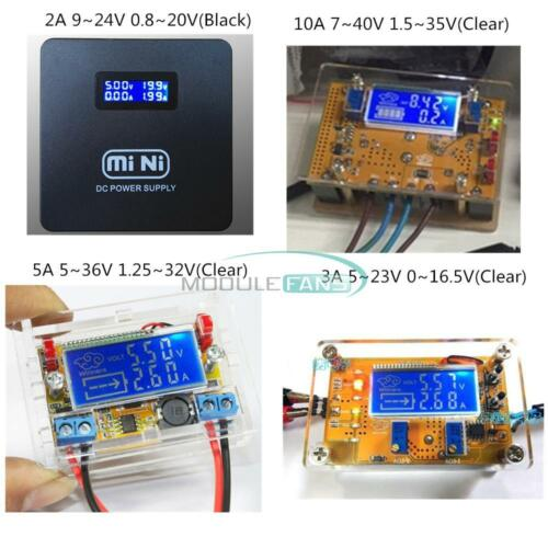2A//3A//5A//10A Adjustable Step-down Power Supply Voltage Current LCD Display+Case
