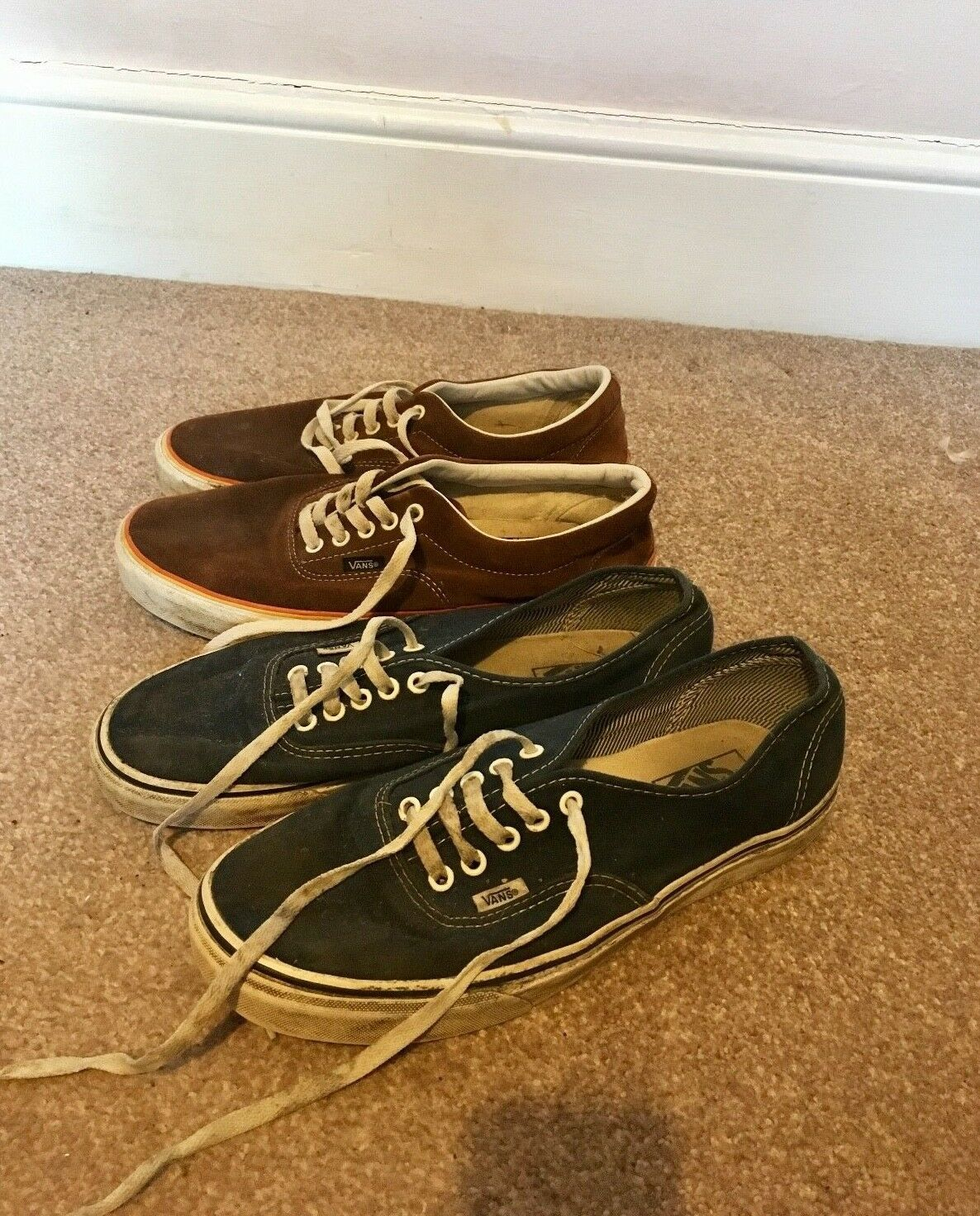 Two pairs of Vans shoes