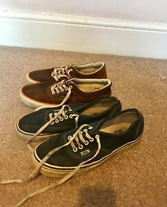 Two Pairs Of Vans Shoes Uk 9 Ebay