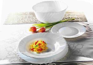Bormioli-Ebro-Dinner-Set-Toledo-White-Glass-Tableware-Dining-Plates-Bowls-Opal